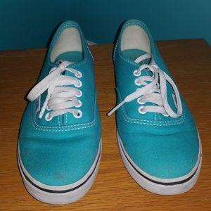 Vans Shoes - Turquoise blue Van's size 5.5